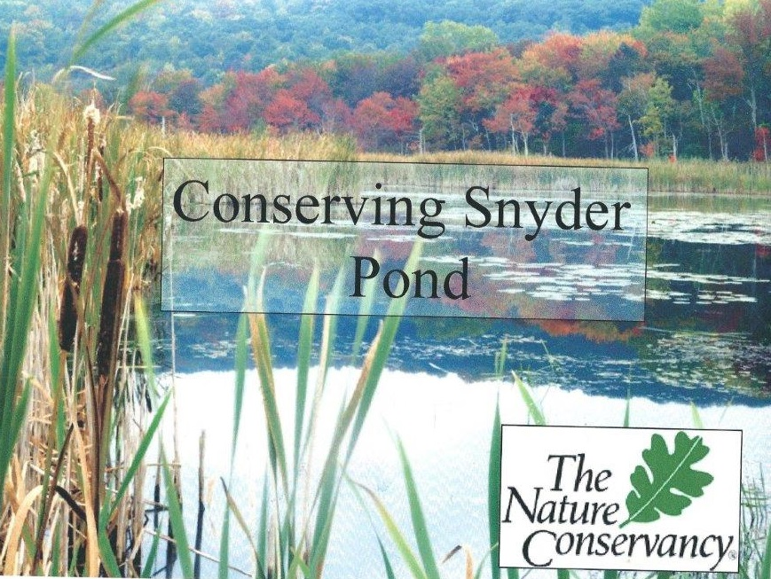 Conserving Snyder Pond - Cover Shot