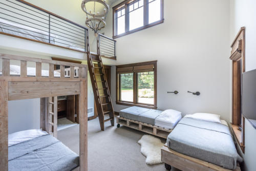 One of two Main Level Bunk Room with Loft