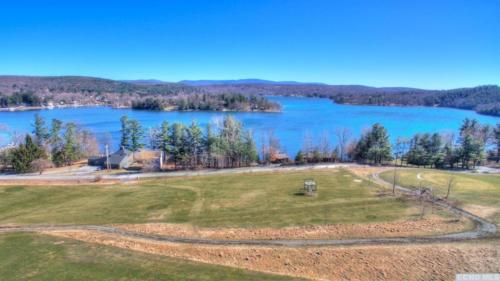 2 - Golf Course Road Lot - Drone View of Lake