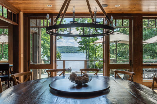 Dining table with Gorgeous Lake Views