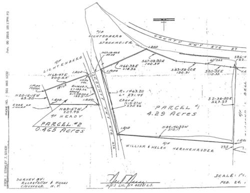 Survey of Chrysler Pond Lot