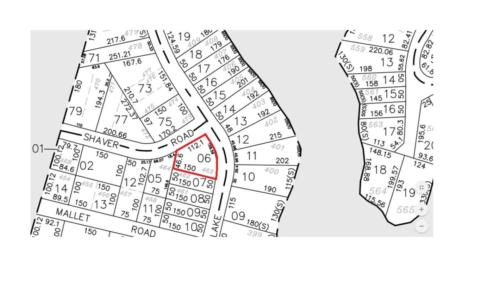 Tax Map - Lake View and Shaver Road Lot